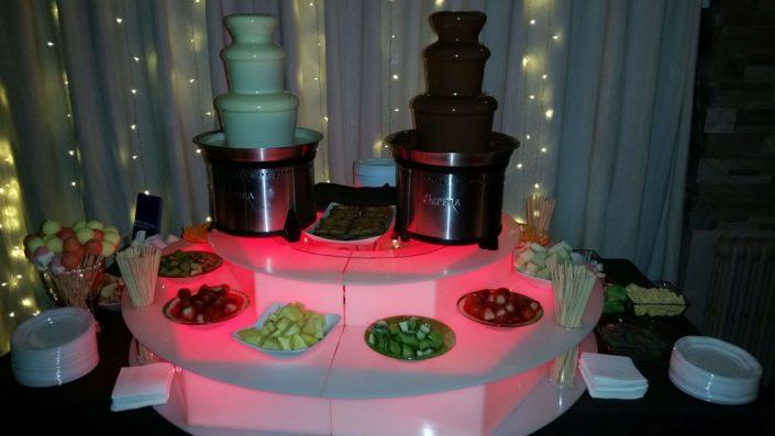 fuentes de chocolate para bodas y eventos en Asturias cantabria bilbao leon